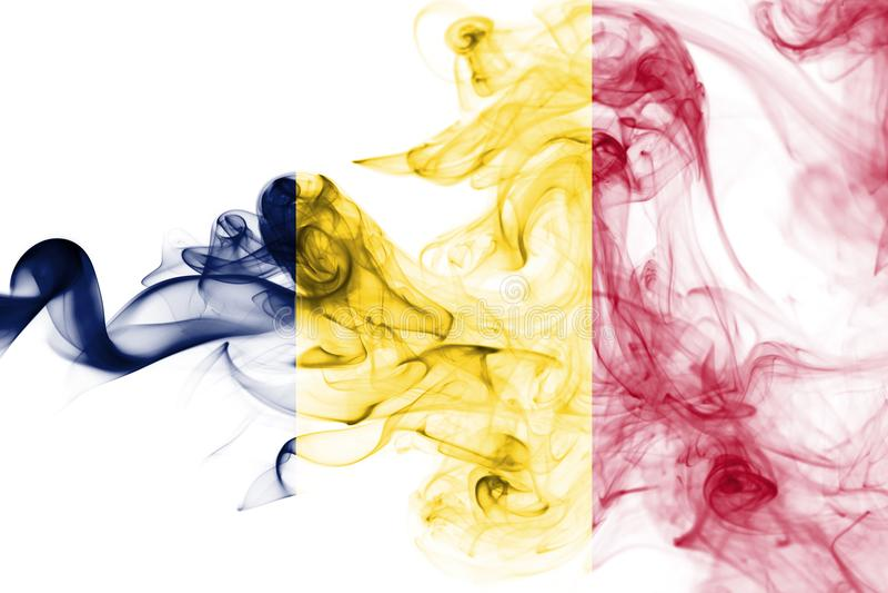 Tschad-Rauchflagge lizenzfreie stockfotografie