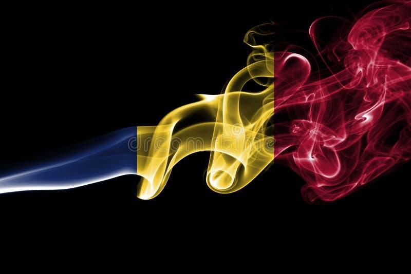 Tschad-Rauchflagge lizenzfreie stockfotos