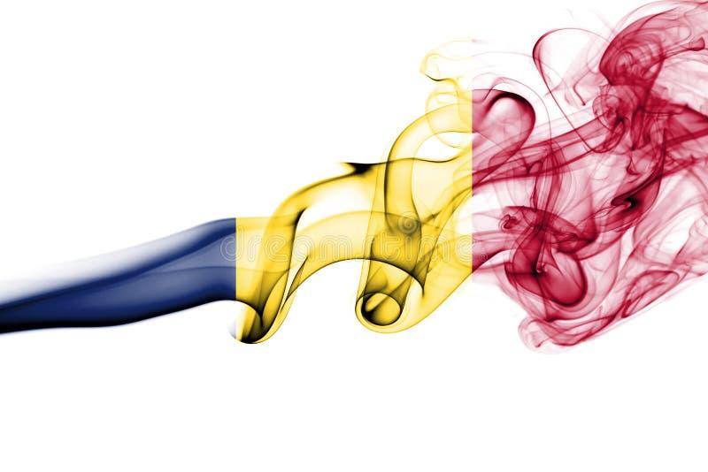 Tschad-Rauchflagge lizenzfreie stockbilder