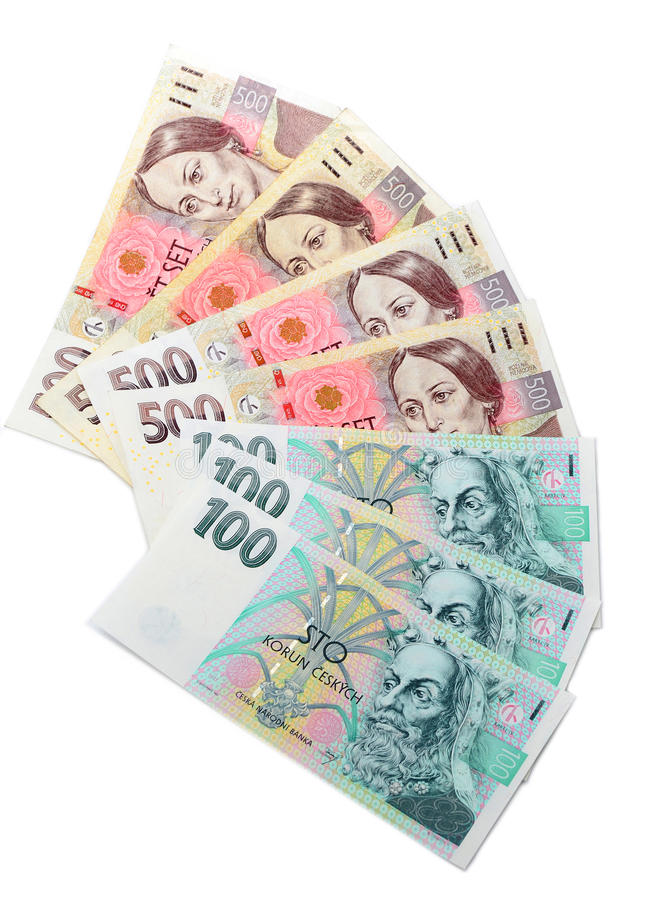 Tschechische Kronen lizenzfreies stockbild