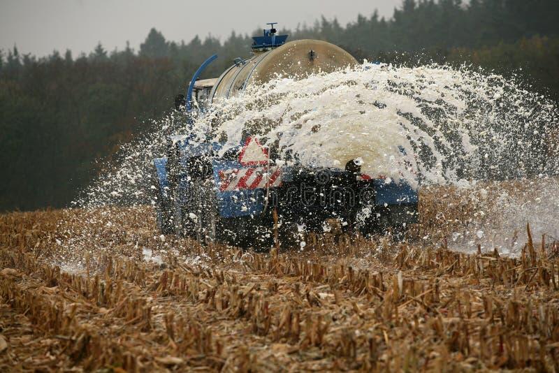 Tschechische Landwirte melken Protest stockfotografie
