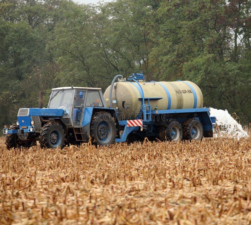 Tschechische Landwirte melken Protest lizenzfreie stockfotos