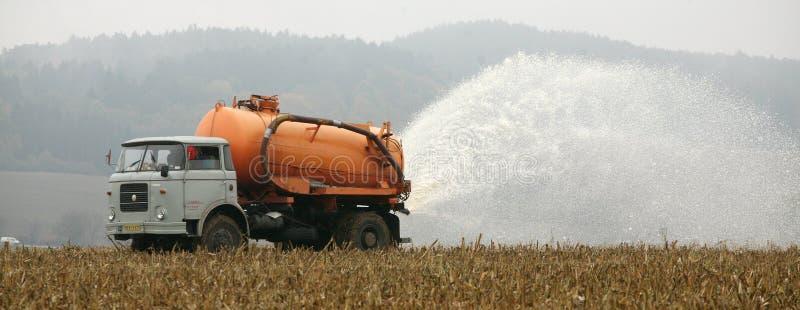 Tschechische Landwirte melken Protest - Lysice stockbilder