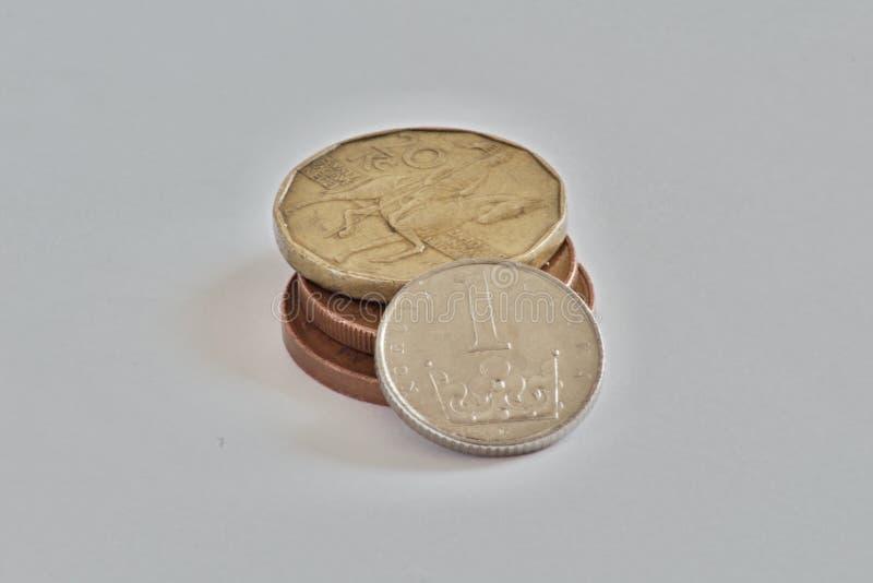 Tschechische Münzen, Kronen lizenzfreies stockfoto