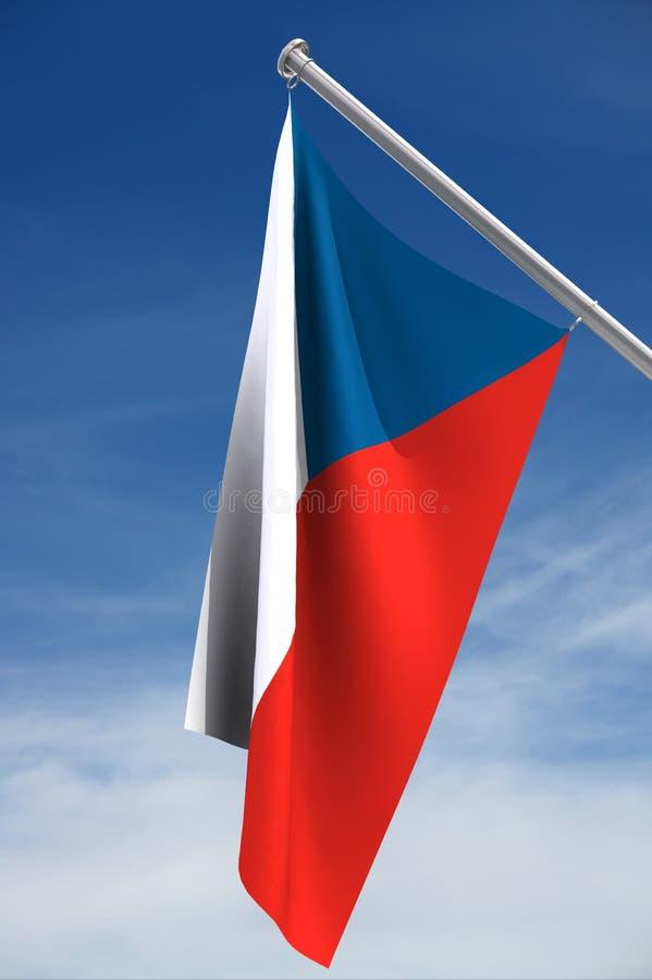 Tschechische Markierungsfahne stock abbildung