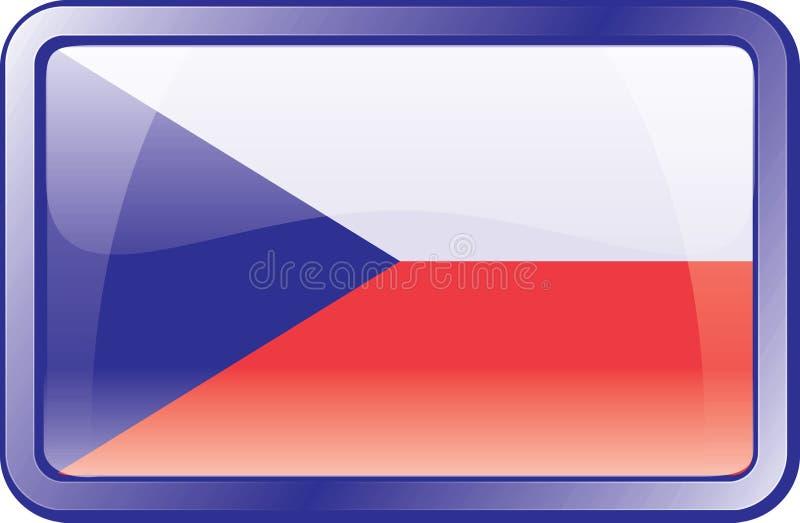 Tschechische Markierungsfahnen-Ikone stock abbildung