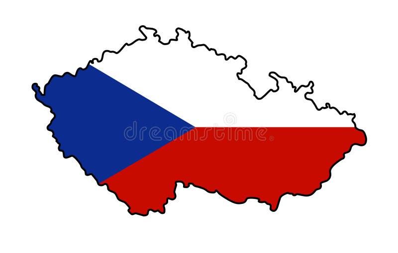 Tschechische Republik Karte der Vektorillustration der Tschechischen Republik stock abbildung