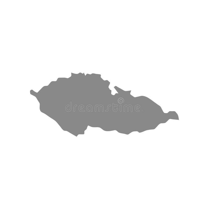 Tschechische Republik - Kartenvektor vektor abbildung