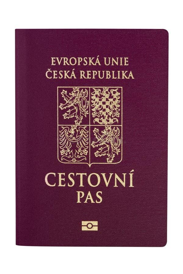 Tschechische Republik-Paß lizenzfreies stockbild