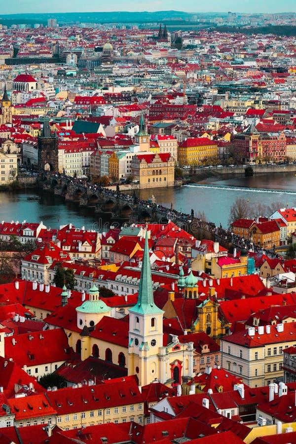 Tschechische Republik, Prag-Stadtpanorama Stadt-Prag-Panoramablick lizenzfreies stockfoto