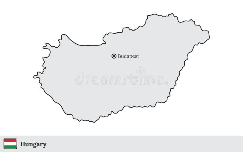 Tschechische Republik Vektorkarte mit der Hauptstadt Prag vektor abbildung