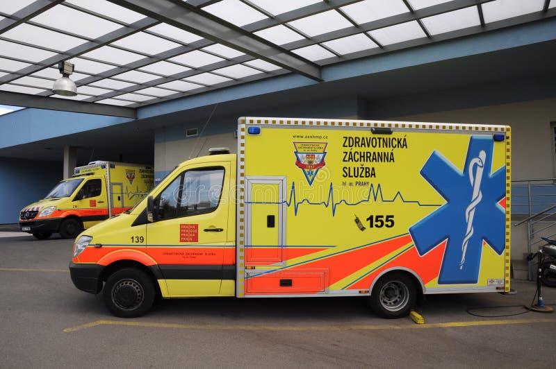 Tschechischer Krankenwagen lizenzfreies stockfoto
