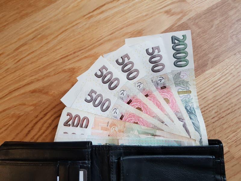Tschechisches Geld lizenzfreie stockbilder