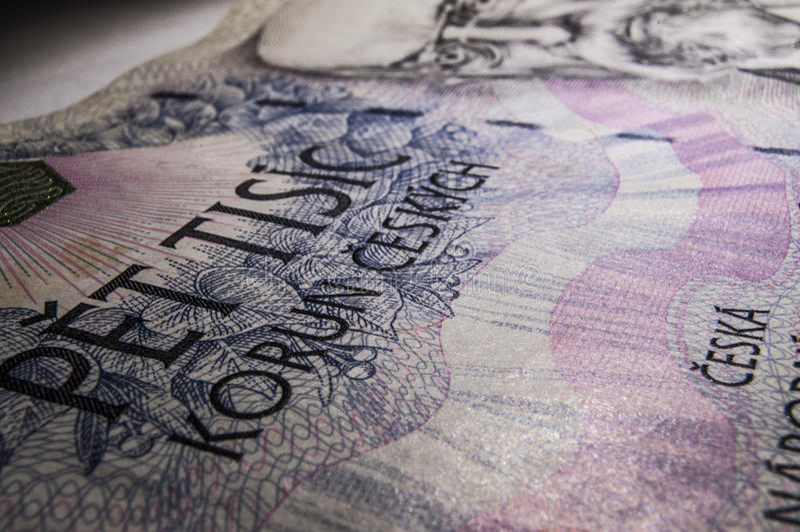 Tschechisches Geld stockbilder