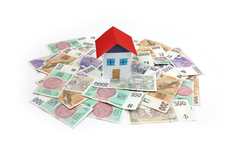 Tschechisches geld- Haus, Haus stockbild