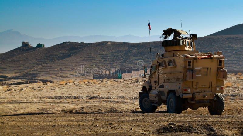 Tschechisches gepanzertes Fahrzeug in Afghanistan lizenzfreies stockbild