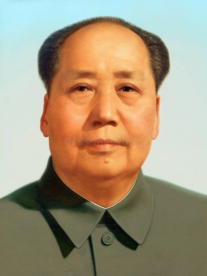 tse tung πορτρέτου mao στοκ εικόνες