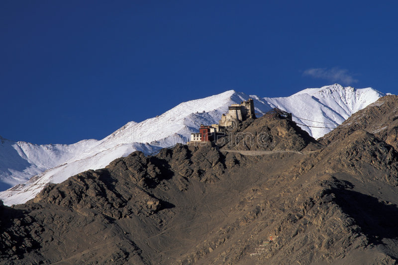 Tsemo Gompa. Buddhistic monastery Leh, Ladakh, India stock photo