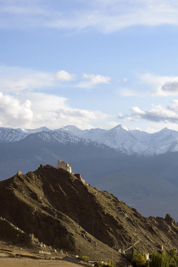 Tsemo Gompa, Leh, Ladakh, India stock fotografie