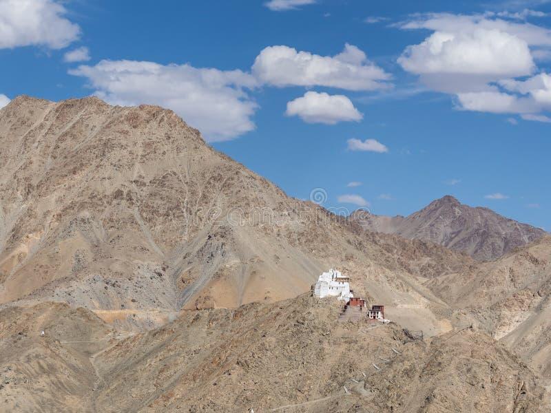 Tsemo Gompa in Leh Ladakh India royalty-vrije stock foto
