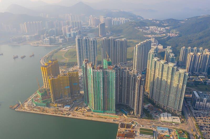 The Tseung Kwan O bay LOHAS Park hong kong 21 Okt 2019 lizenzfreie stockbilder