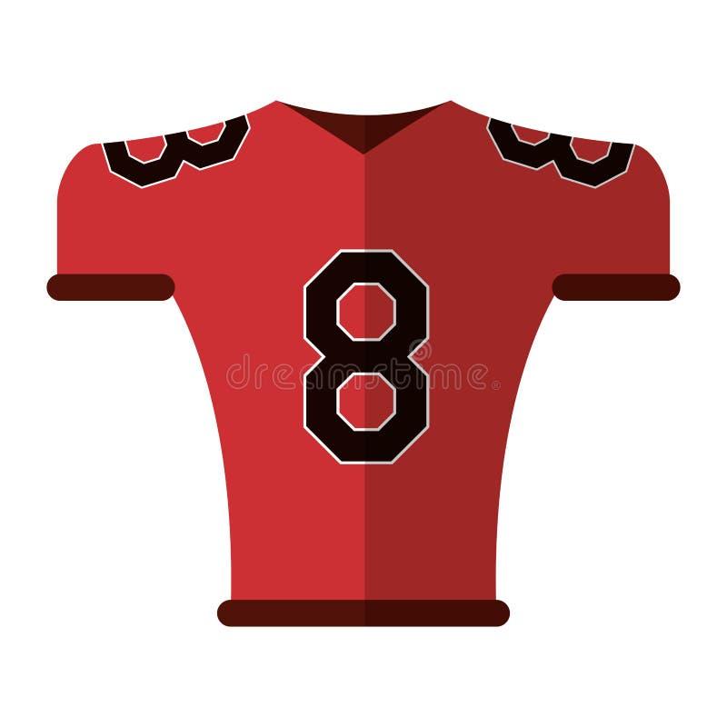 Tshirt do uniforme do jérsei do futebol americano ilustração do vetor