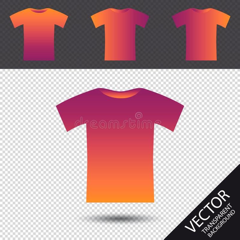 Tshirt ikona Odizolowywająca Na Przejrzystym tle - Retro modnisia Wektorowa ilustracja - royalty ilustracja