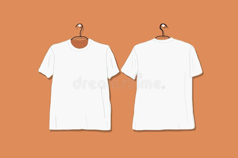 Tshirt mockup white for your design. Vector illustration vector illustration