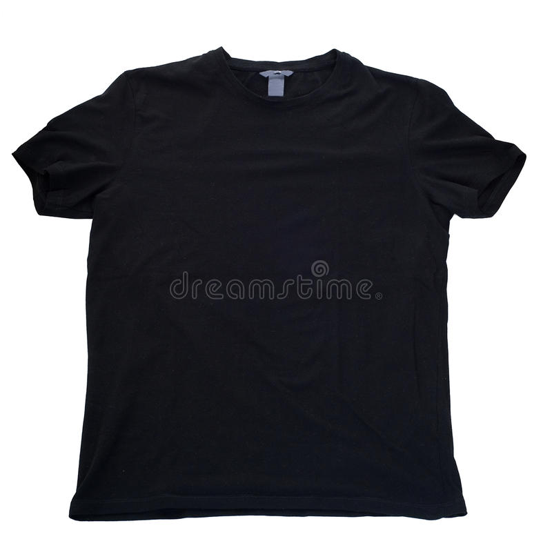 Tshirt preto imagem de stock royalty free