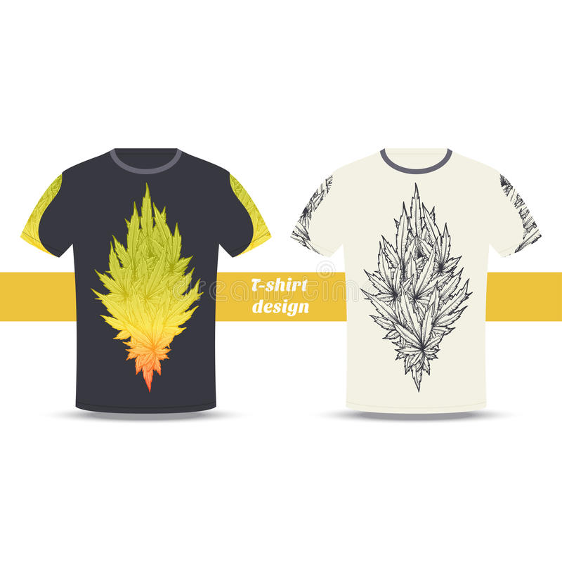 Tshirt projekt Dwa ilustracji