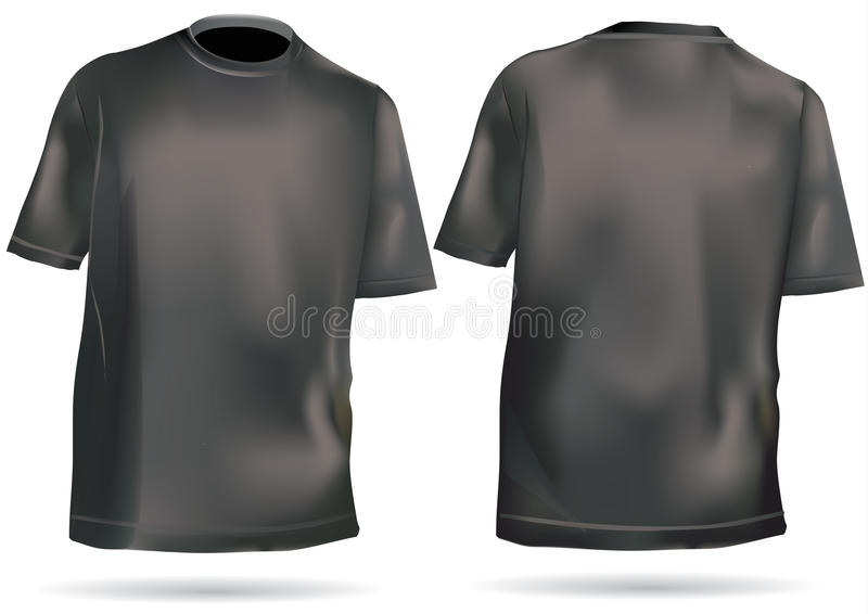 Download Tshirt,shirt With Front And Back Stock Vector - Image: 14067381