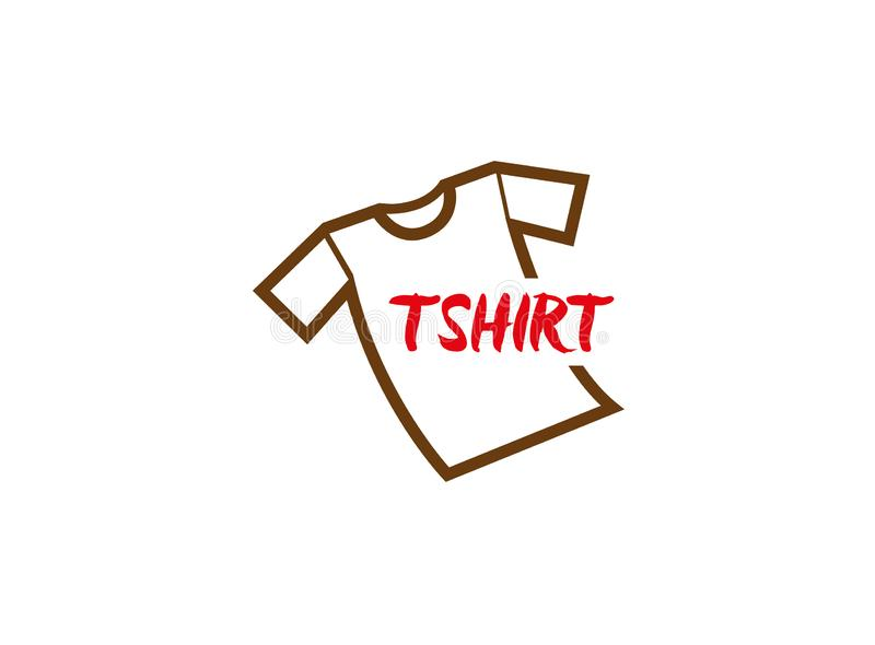Tshirt simple tee with text for logo. Esign illustration, wear icon vector illustration