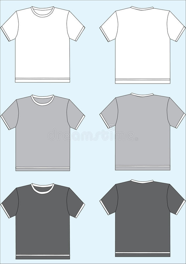 Download Tshirt template stock vector. Image of retail, active - 11434686