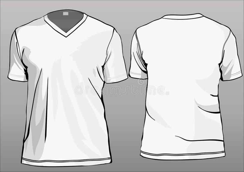 TShirt Template With V-neck Stock Vector - Illustration of uniform ...