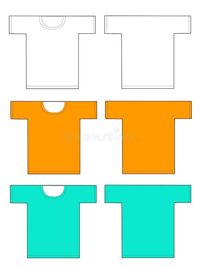 Tshirt vazio ilustração do vetor