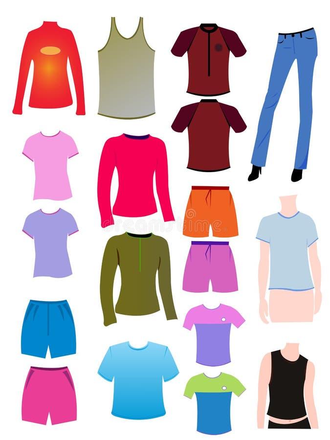 Tshirt vazio ilustração stock