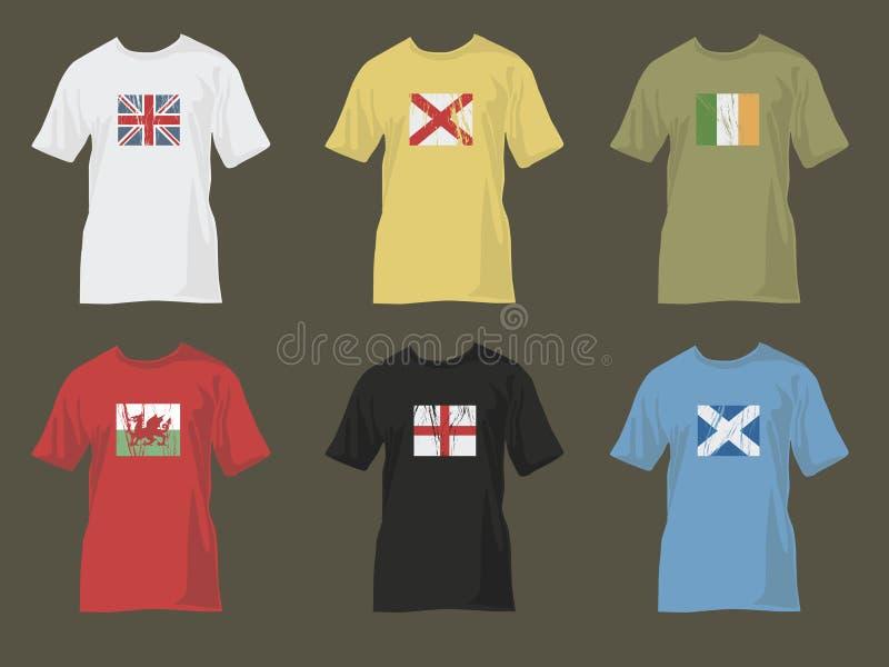 Tshirts com bandeiras 1 ilustração do vetor