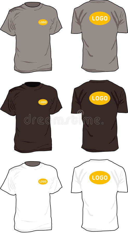 Tshirts Illustration Royalty Free Stock Photography