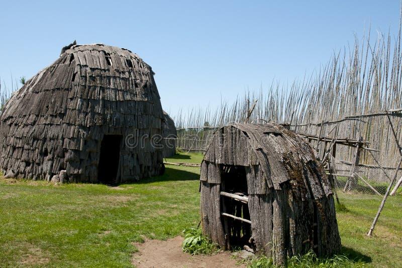 Tsiionhiakwatha Droulers Archeologiczny miejsce Quebec, Kanada - zdjęcia stock
