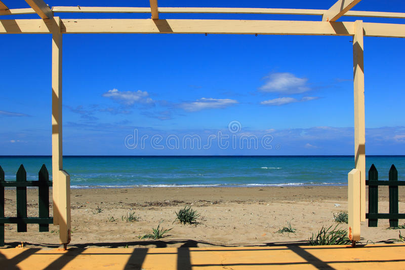 Tsilivi Strand Zakynthos stockbild