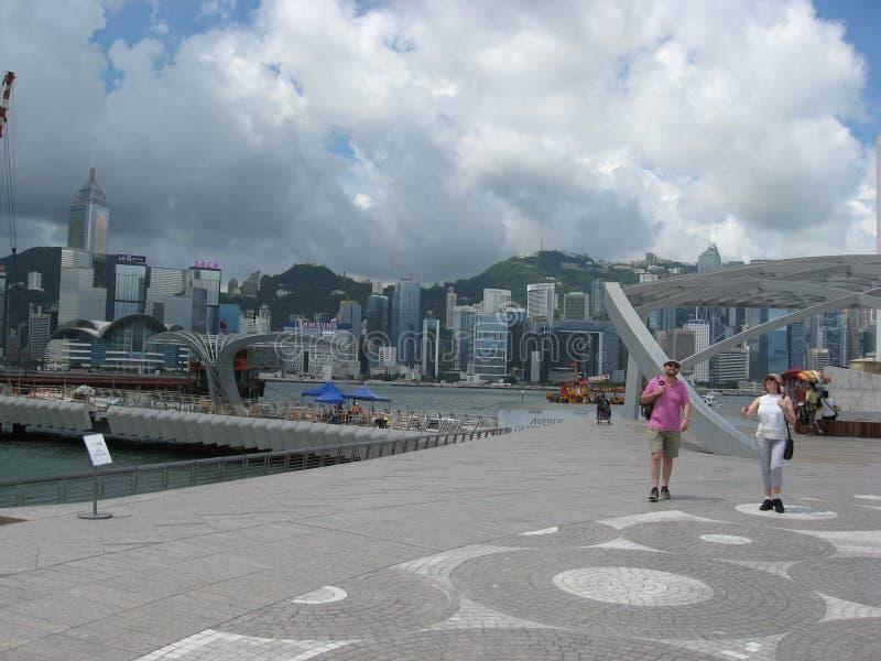 Tsim Sha Tsui, Hong Kong fotografering för bildbyråer