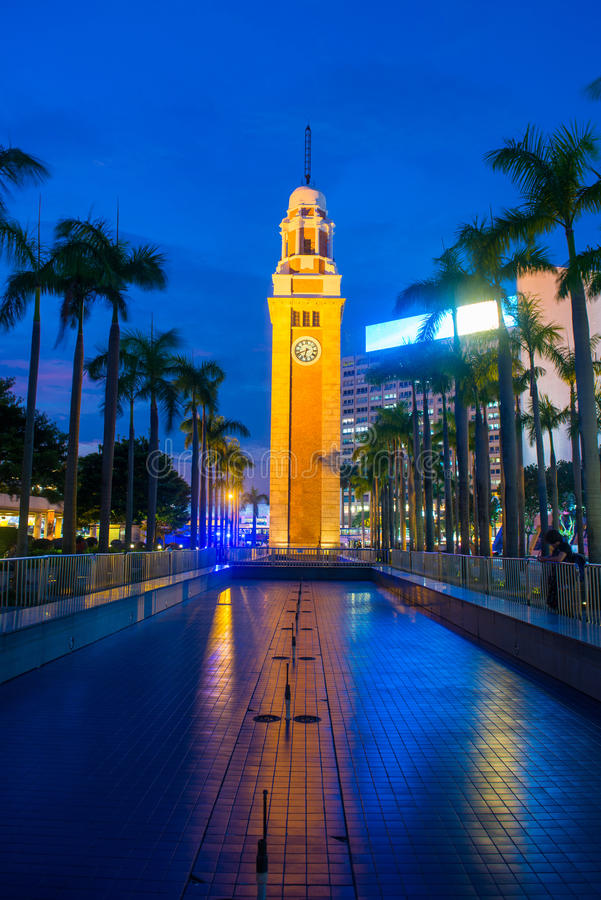 Tsim Sha Tsui, Hong Kong - 23 de septiembre de 2016: Torre de reloj en TW foto de archivo libre de regalías