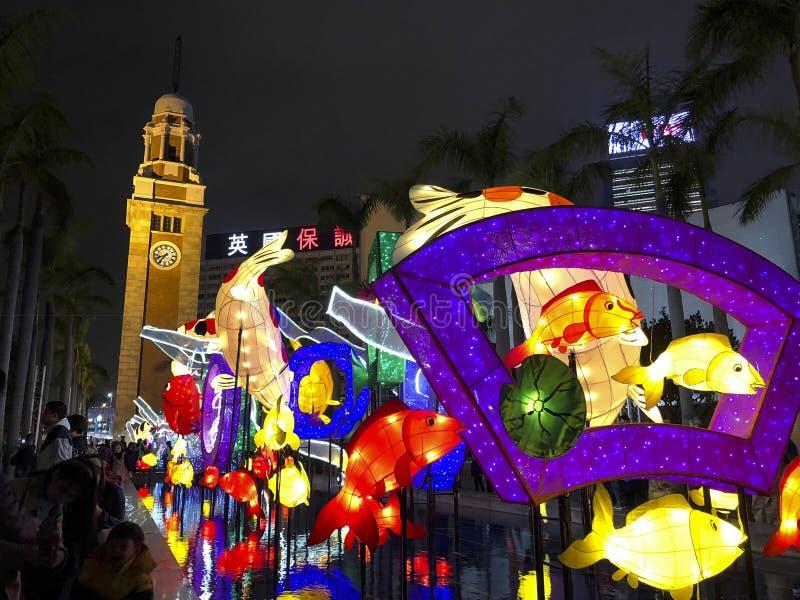 TSIM SHA TSUI, HONG KONG- FEBRUARY 17, 2018- The Chinese Lantern royalty free stock photography