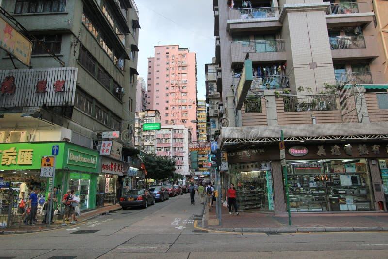 Tsim Sha Tsui street view in Hong Kong royalty free stock photos