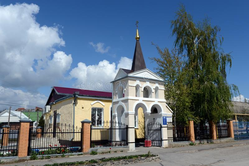 The Church of the Holy Great Martyr and Healer Panteleimon of the Volgodonsk Diocese in Tsimlyansk. royalty free stock image