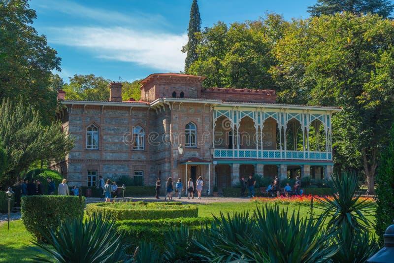 Tsinandali, la Géorgie - 30/09/2018 : Palais et jardin de Tsinandali, image stock