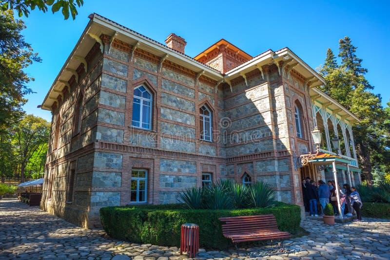 Tsinandali, la Géorgie - 30/09/2018 : Palais et jardin de Tsinandali, photo libre de droits