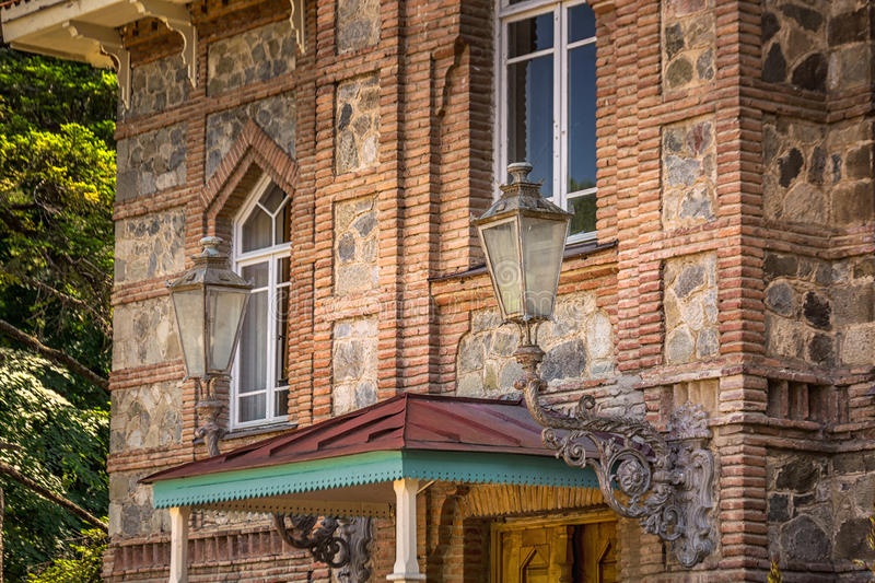 Tsinandali palace in georgia. Tsinandali is a village in Kakheti, Georgia, noted for the estate and its historic winery which once belonged to the 19 century stock image