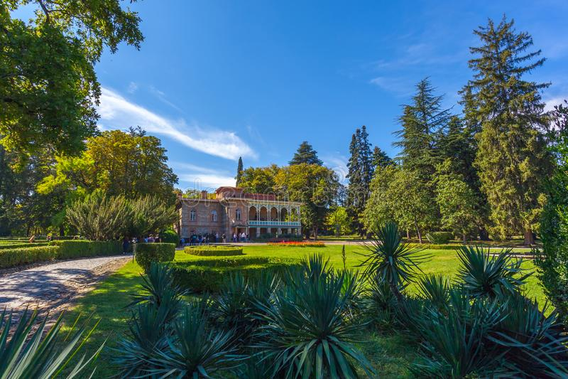 Tsinandali-Palast und Garten, Chavchavadze-Haus-Museum - Kakhet stockfotografie