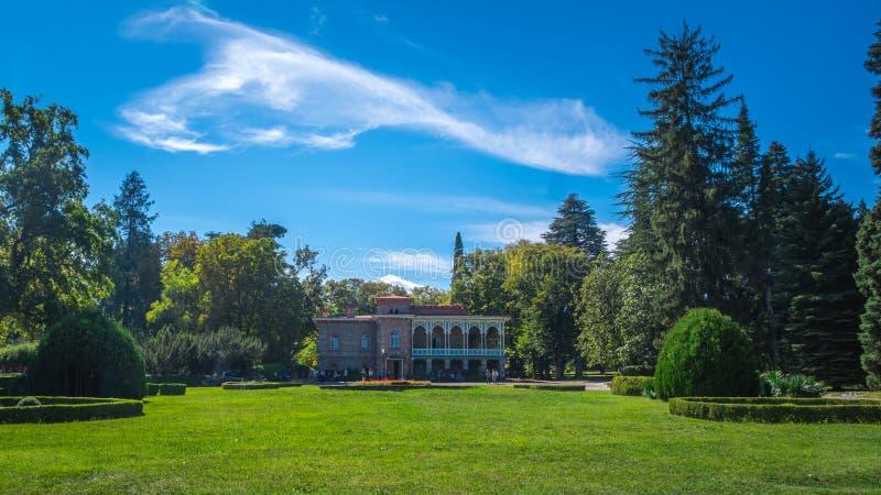 Tsinandalipaleis en tuin, Chavchavadze-Huismuseum - Kakhet royalty-vrije stock afbeeldingen